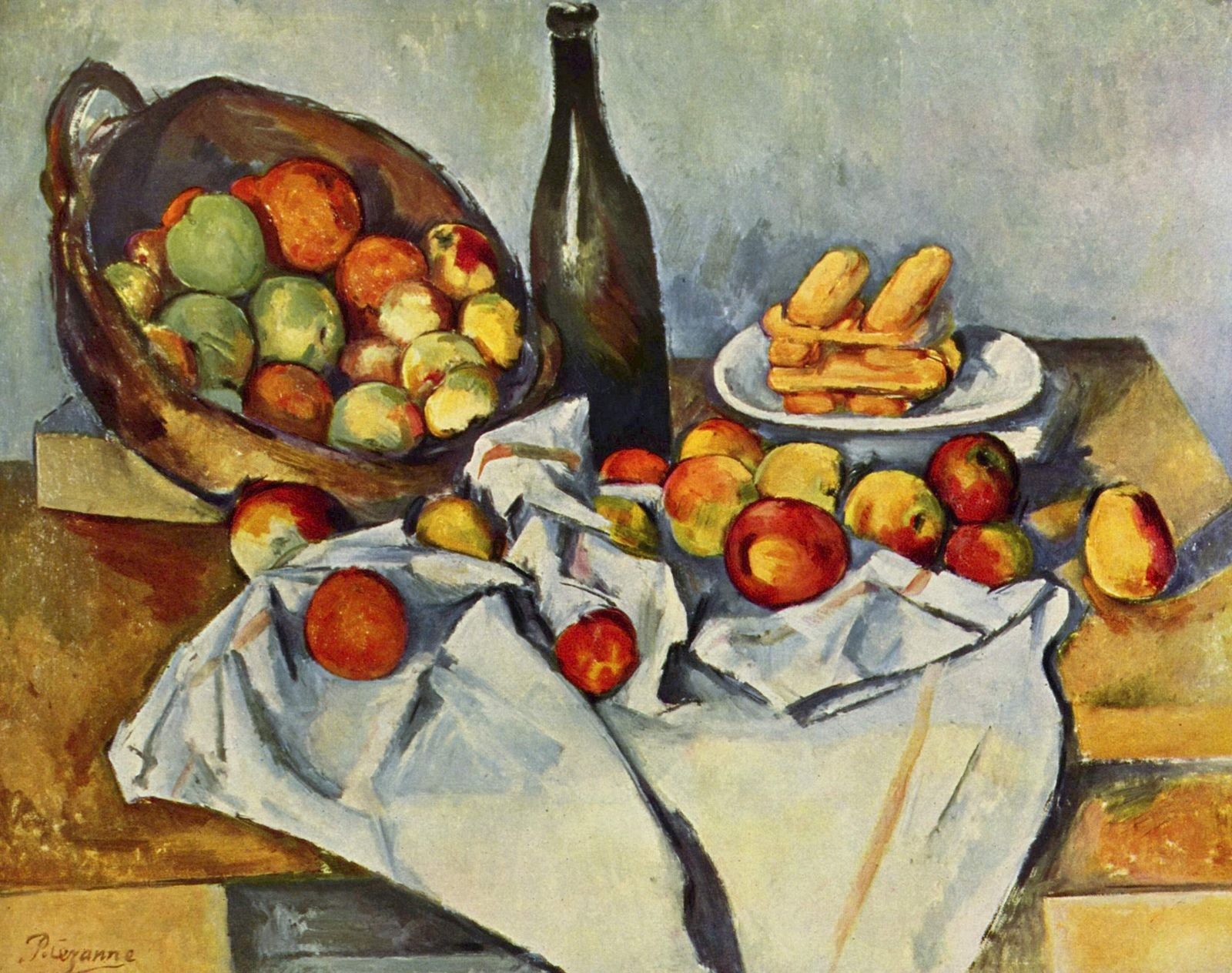 basket of apples cezanne The basket of apples is an oil painting produced in 1895 by french painter paul cezanne this painting by paul cezanne was noticed widely for its disjoint perspectives the basket of apples due to its unbalanced parts was regarded as a balanced composition.
